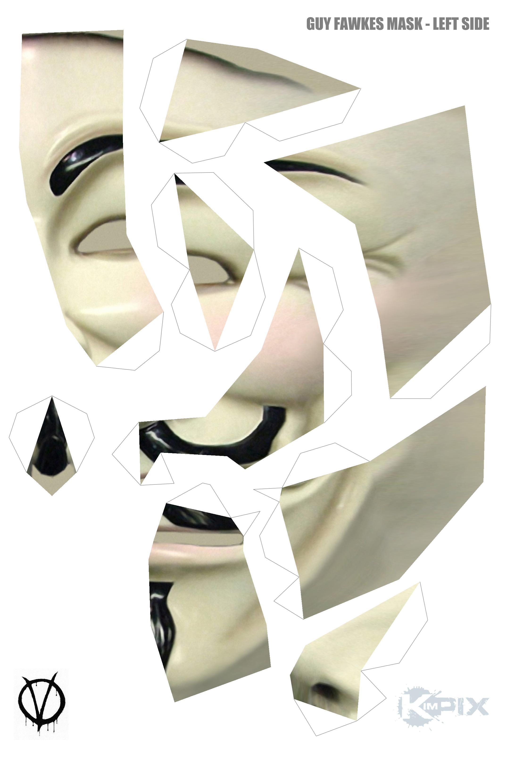 Как сделать из бумаги маску гая фокса